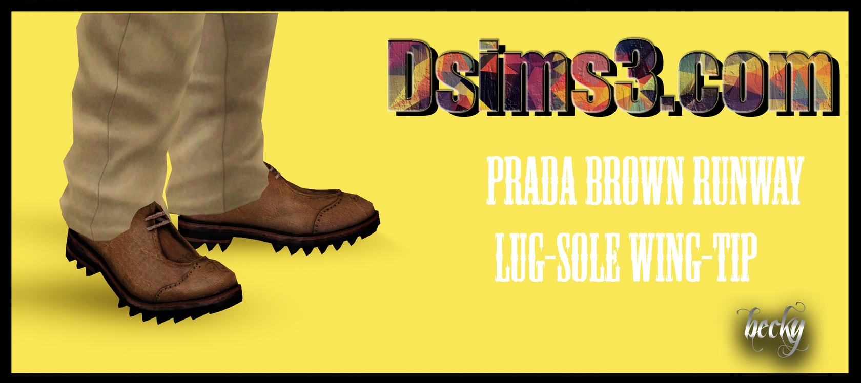 Prada Brown Runway Lug-Sole Wing-Tip Shoes by Becky
