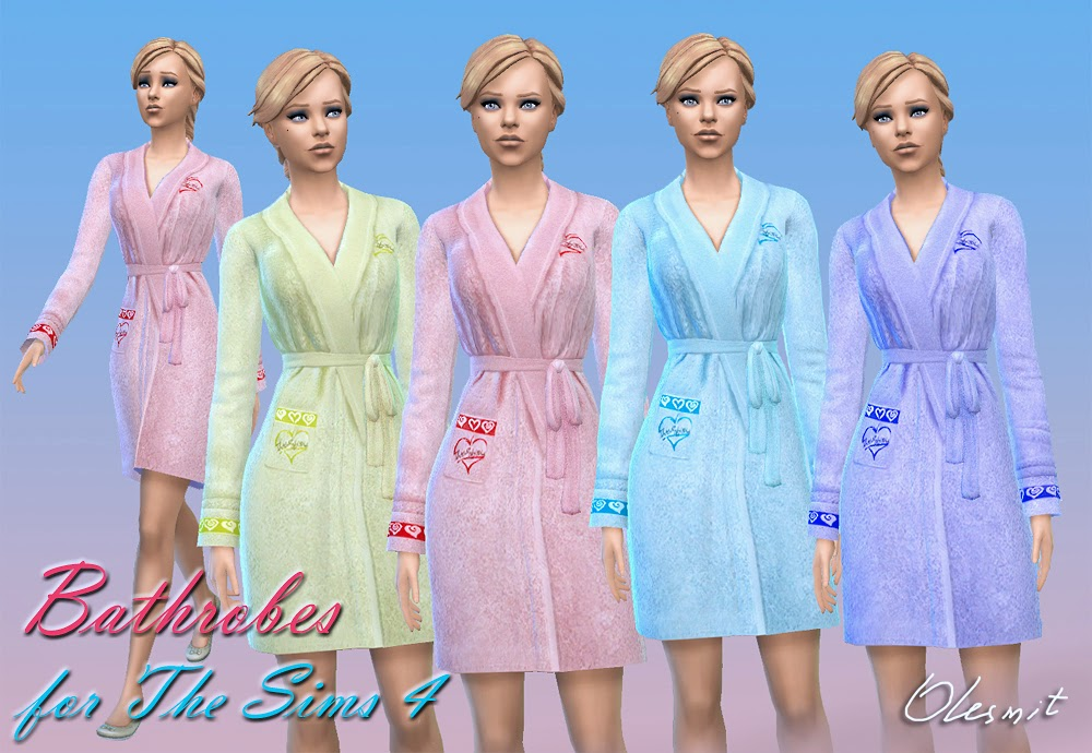 Bathrobes for Adult Females by Olesmit