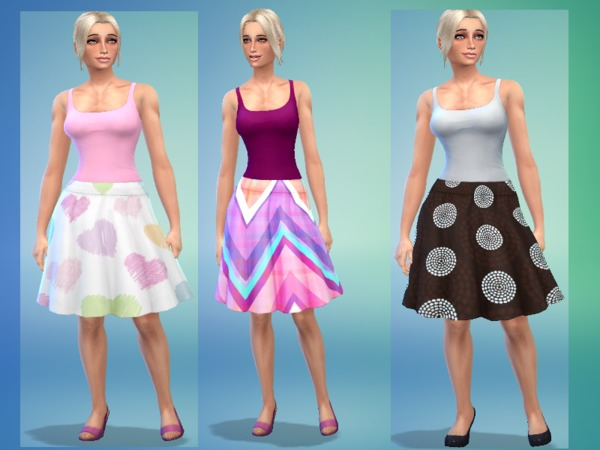 Set skirt calf female by simsoertchen