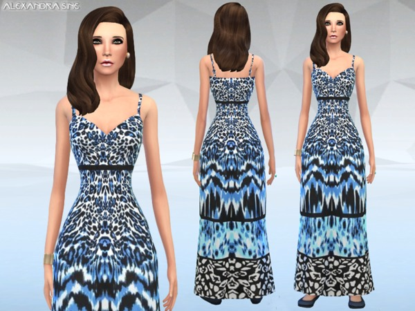 Tiered Animal Print Maxi Dress by Alexandra_Sine