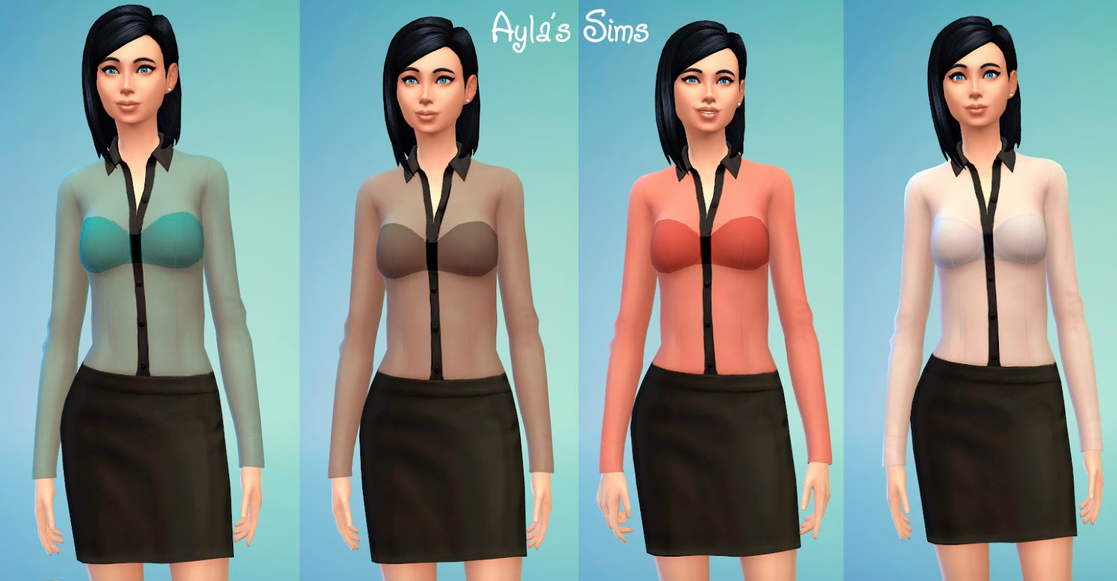 Transparent Blouse at Aylas Sims