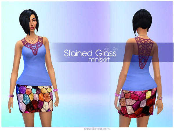 Stained Glass Miniskirt by Zeiyth