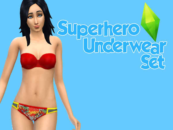 Superhero Underwear Set by valouune