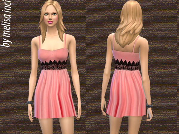 Lace Detail Dress by melisa inci