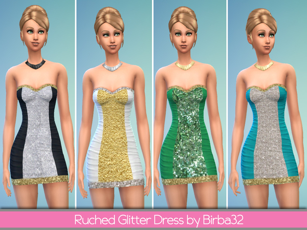 Ruched glitter dress by Birba32