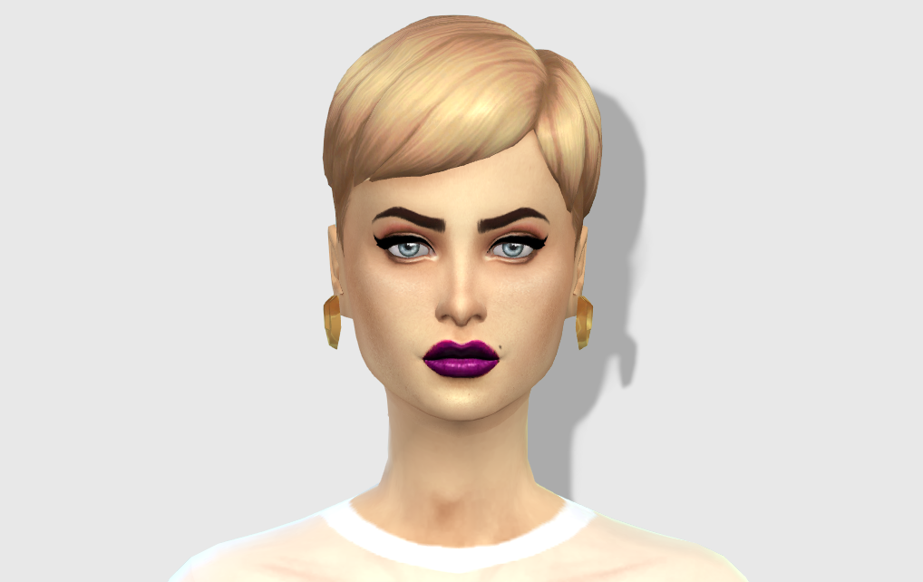 Purple Lipstick by Hautfashionsims4