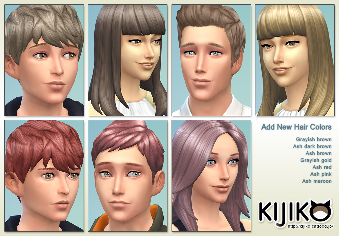 7 Hair Colors at Kijiko