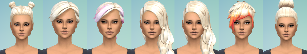 Platinum Hair Recolors by EroticSim