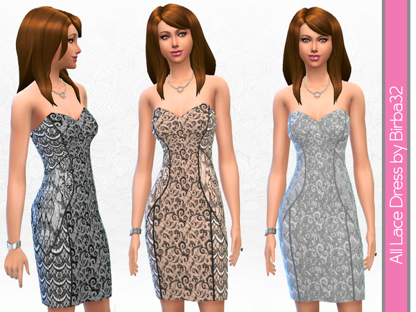 All lace cocktail dress by Birba32