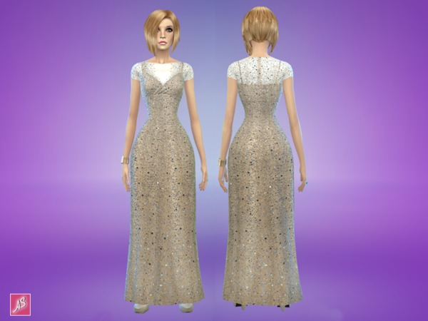 Scattered Bead Gown by Alexandra_Sine
