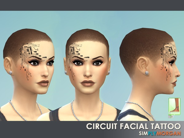 Circuit Facial Tattoo (Female) by SimplyMorgan77