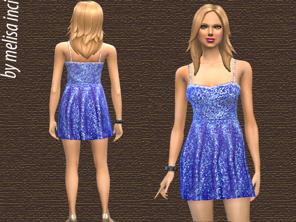 Sequined Halter Dress by melisa inci
