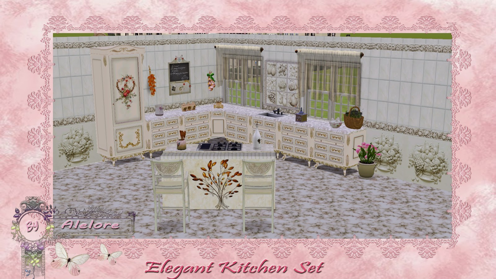 Elegant Kitchen Wall Set by Alelore