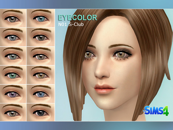S-Club sims4 eyecolor default replacement 01
