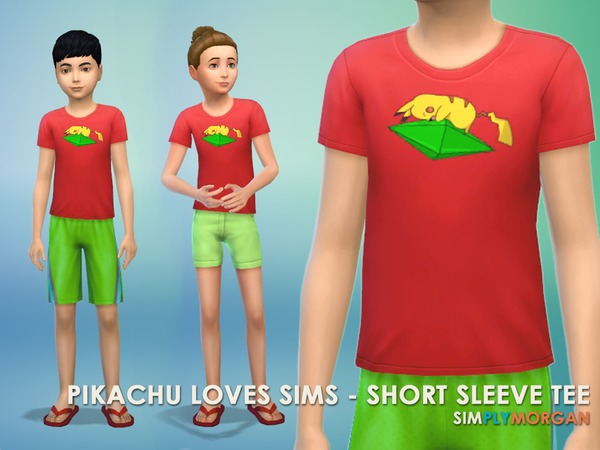 Pikachu Loves Sims - 4 Piece Set by SimplyMorgan77