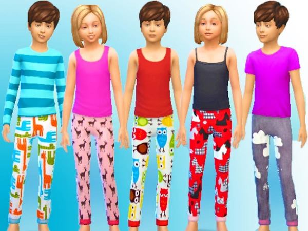 Colorful Kids PJs by GoForFink