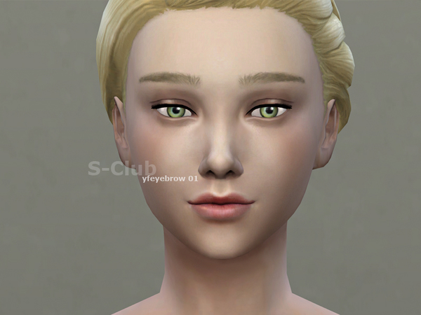 S-Club WM thesims4 Eyebrows Unibrow 01