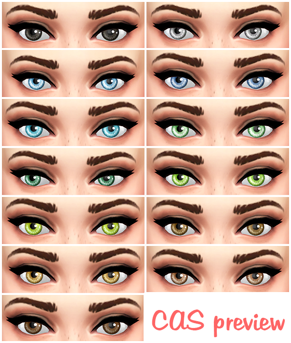 TS3 to TS4 Sunshine Default Eyes by Lunarlolily
