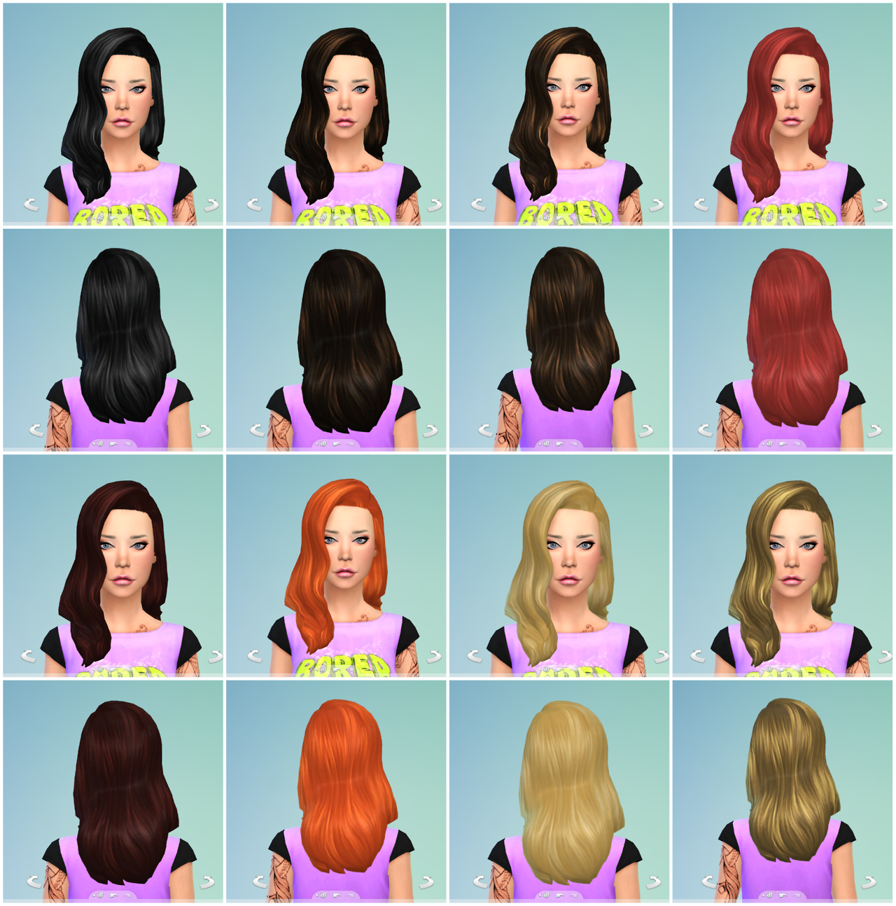 Default Replacement Hair Retextures by WillowGeek