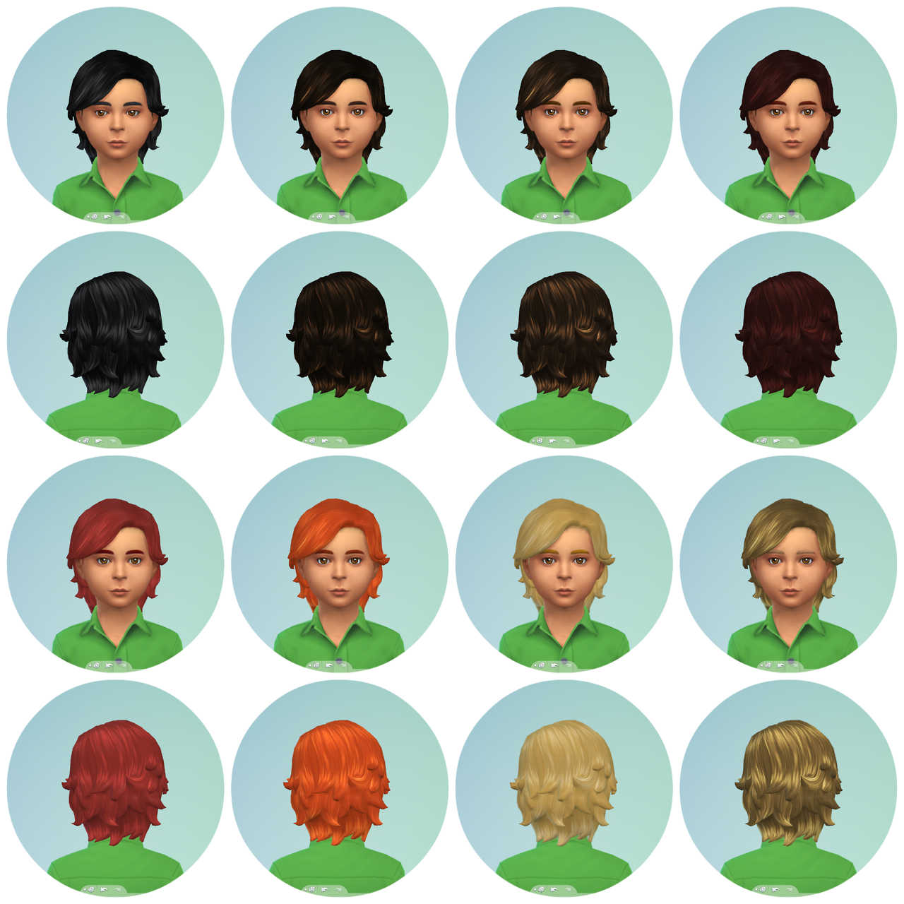 Hair Retextures for Boys by WillowGeek