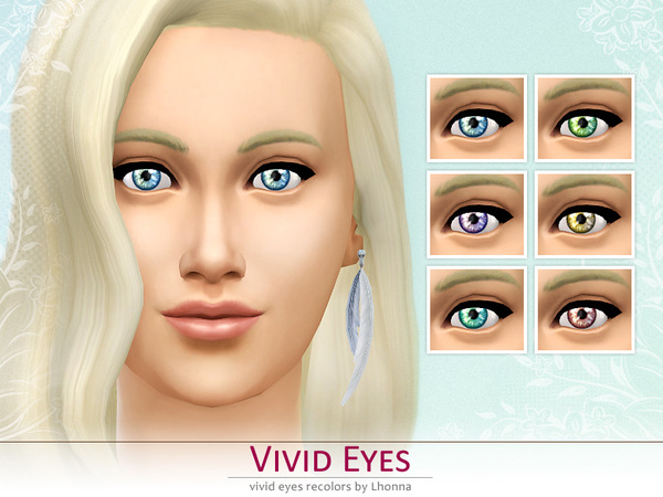 Vivid Eyes (non-default recolors) by Lhonna