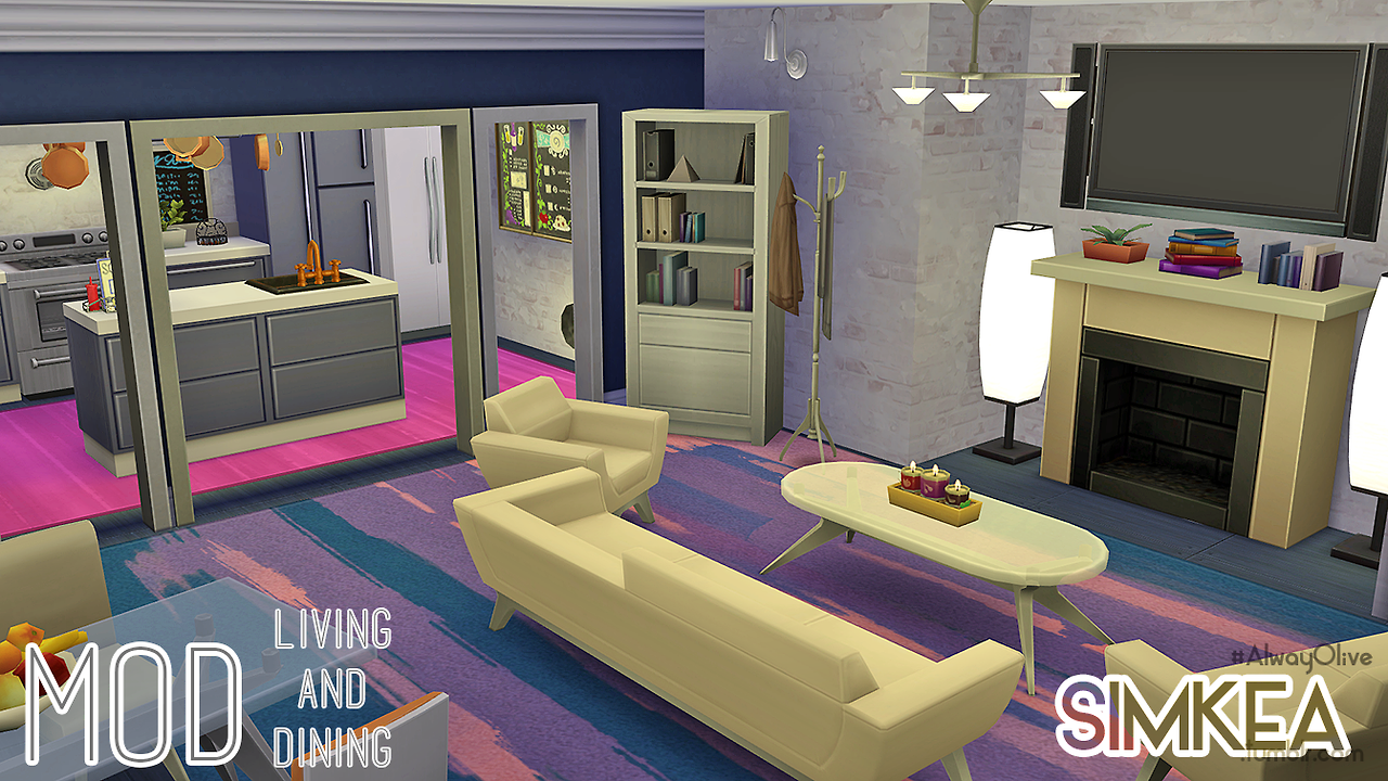 Mod Living & Dining Cosy, warm and spacious by Simkea