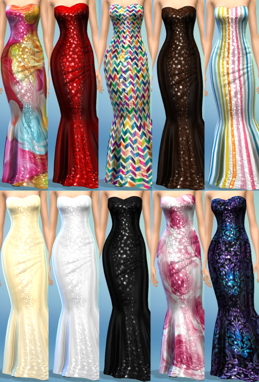 10 CONCERTO DRESS RECOLORS by thesimsperience