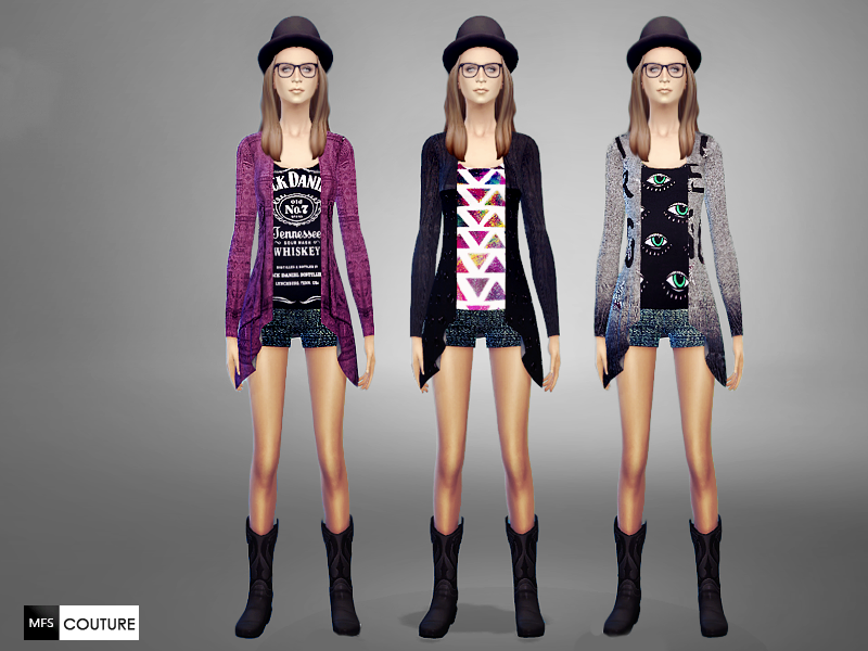 Hipster Outfits by MissFortune Sims