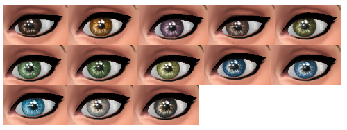 TS3 to TS4 - Moonskin93's Diamante Eyes by Wonderpetals