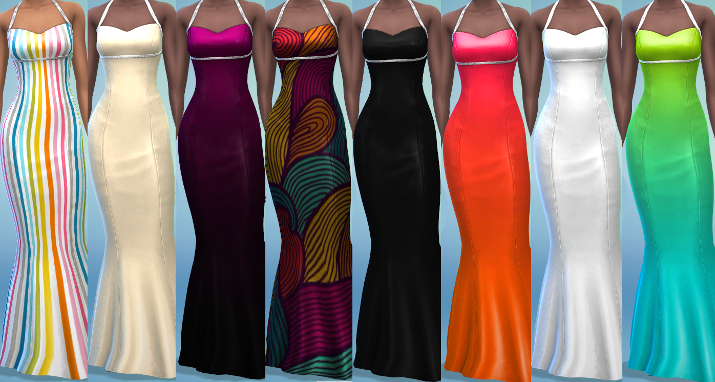8 Double Diamond Dress Recolors by The Simsperience