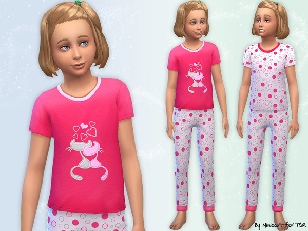 Cat Themed Pyjamas by minicart