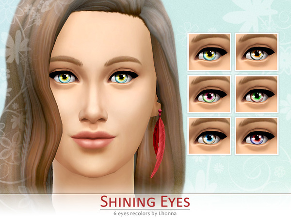 Shining Eyes (non-default recolors) by Lhonna
