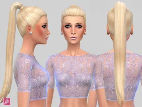EA Hair with Longer Ponytail by Alexandrasimblr
