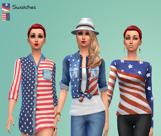 American Flag Tops by Macavaty