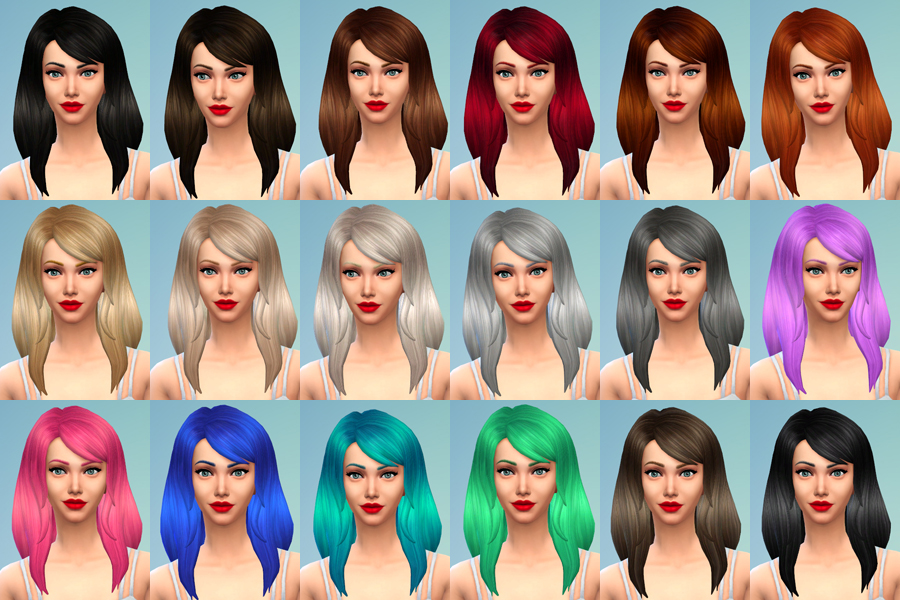 Default Hair Retextures by Deliriumsims