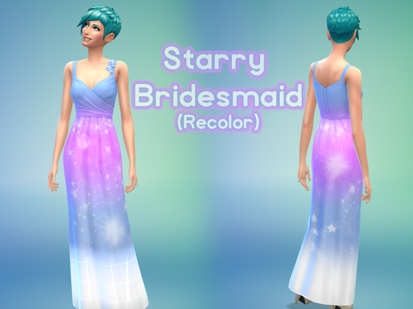 Starry Sky Bridesmaid Dress by Kayli.Mills