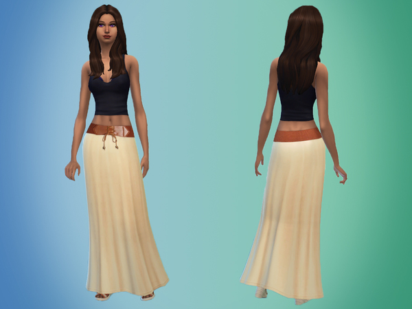 Belted Maxi Skirt by _Miep_