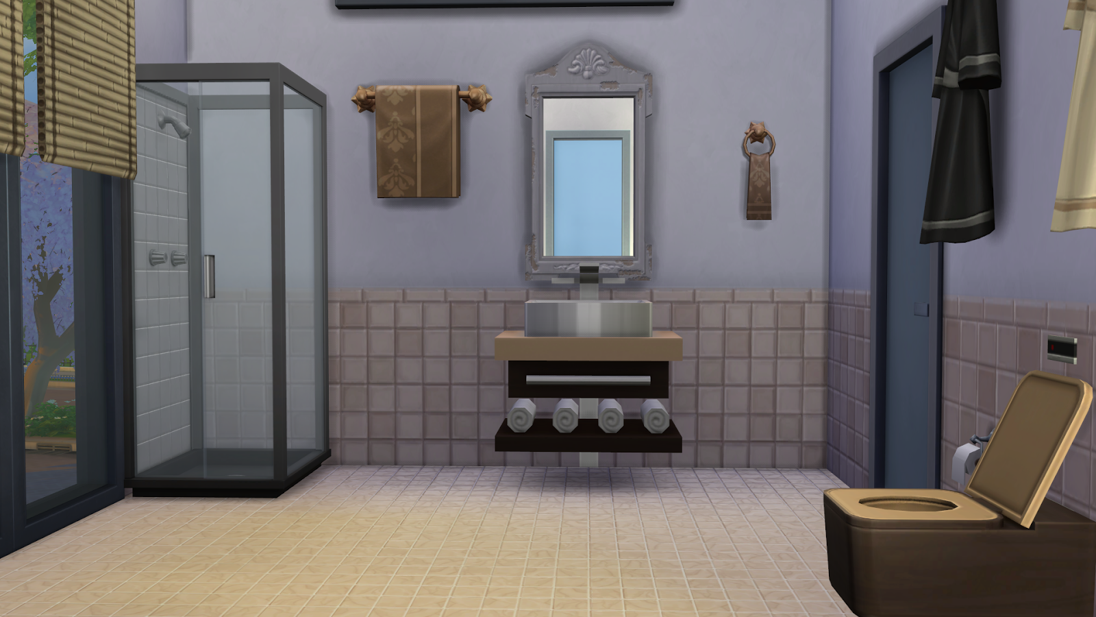 Brown bathroom recolor by Michaela P