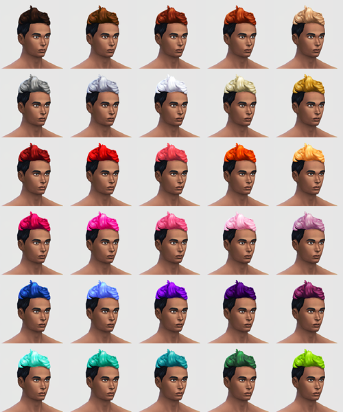 Buzzed Op! 120 hair colours for males at SqquareSims