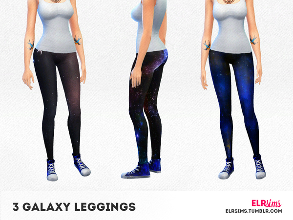[ELR SIMS] 3 Galaxy Leggings by elrsims