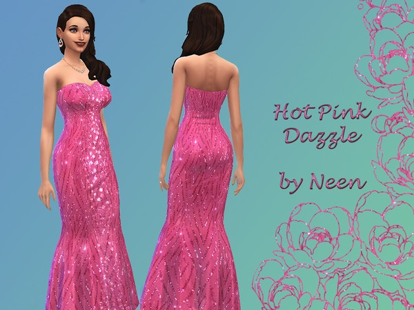 Hot Pink Dazzle Dress by neenornina