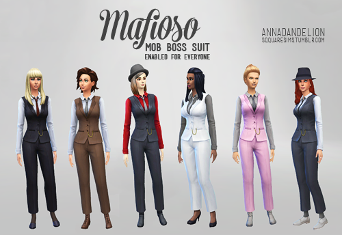 Mafioso Mob Boss suit 6 variants at SqquareSims