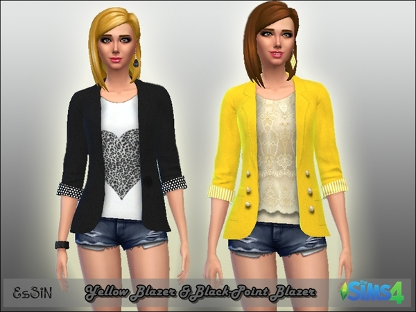 Blazer Set Yellow & Black-Point by ESsiN