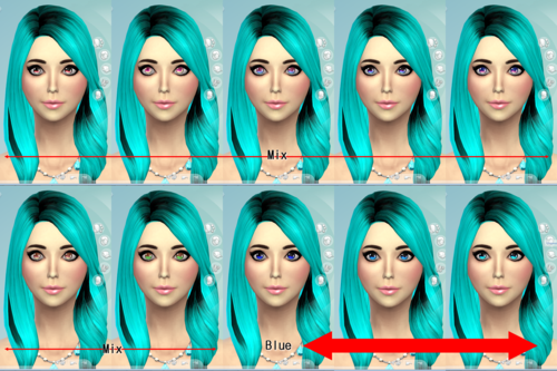 Shiny Colored Non-Default Eyes at Darkiie Sims4