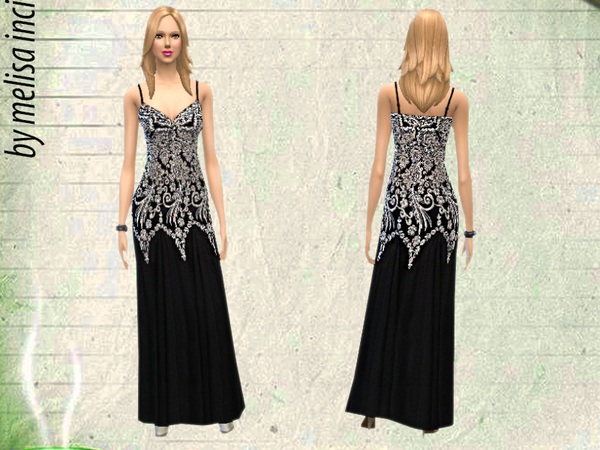 Embroidered Gown by melisa inci