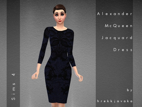 Alexander McQueen Jacquard Dress by hrekkjavaka