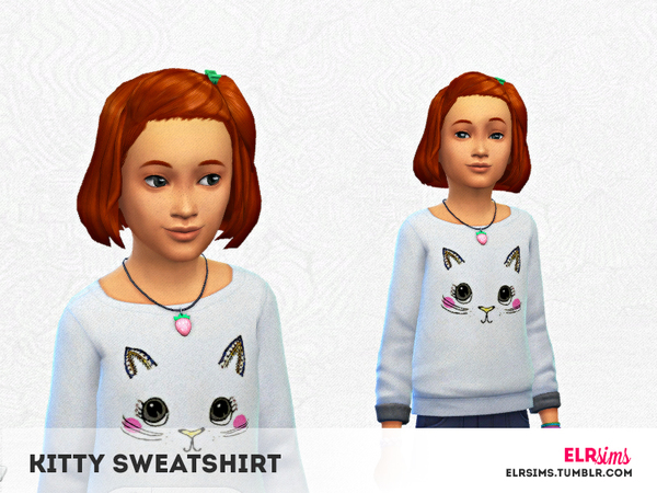[ELR SIMS] Kitty Sweatshirt by elrsims