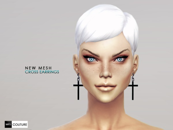 [NEW MESH] Cross Earrings by MissFortune