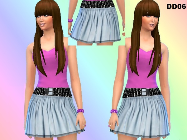DD06_blue pleated skirt by DivaDelic06