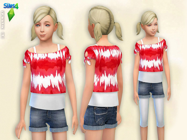 Printed T-Shirt & Denim Shorts - Set by lillka
